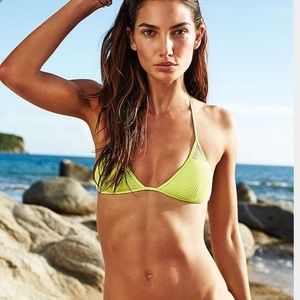 Victoria's Secret Neon Mesh Bikini Top